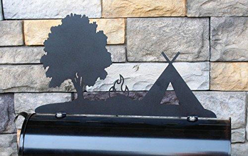 Tent Campsite Metal Mailbox - Site Hut