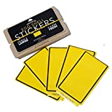Egg Shell Sticker Yellow Lined Blanks Pack