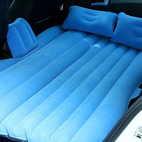 EGI Universal Light Blue Inflatable Car Mattress for Back Seat of Sedan, SUV, Pickup Trucks, Mini Van, and Semi Trucks (Air Sedan)