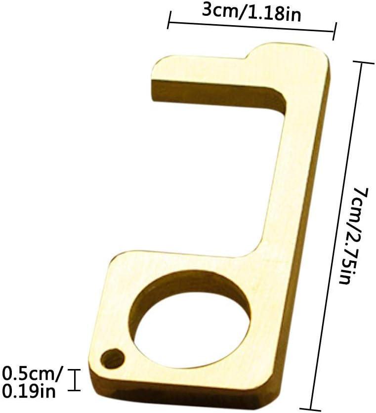 Ouvre-Porte Portable sans Contact Poign/ée de Porte Loutil Bouton sans Contact Outil dhygi/ène des Mains Essentiel Porte-cl/és