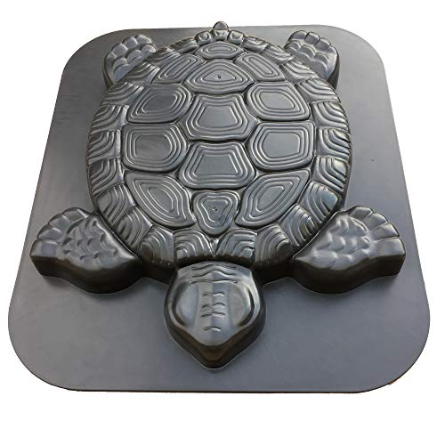 HapWay Turtle Shape Stepping Stone Mold, Tortoise Concrete Cement Mould Walk Maker, DIY Personalized Manual Garden Lawn Pathmate Paving Pavement Paver (Plastic Stone Mold Abs Stepping)