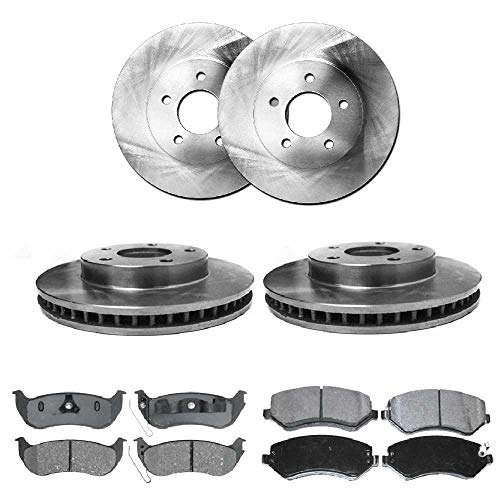 Prime Choice Auto Parts SCDR9995 4 Front and Rear Disc Brake Rotors and 8 Ceramic Brake ()