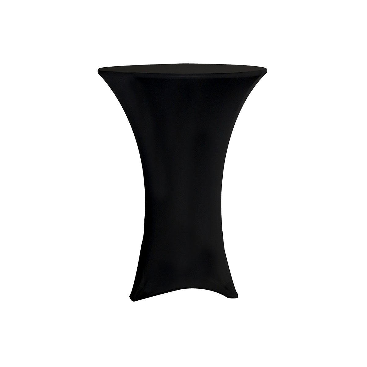 YourChairCovers 30-inch Highboy Cocktail Fitted Spandex Table Cover, Black