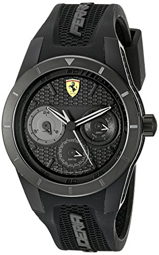 Ferrari Men's 0830259 REDREV T Analog Display Quartz Black Watch (Quartz Watch 1 Formula)
