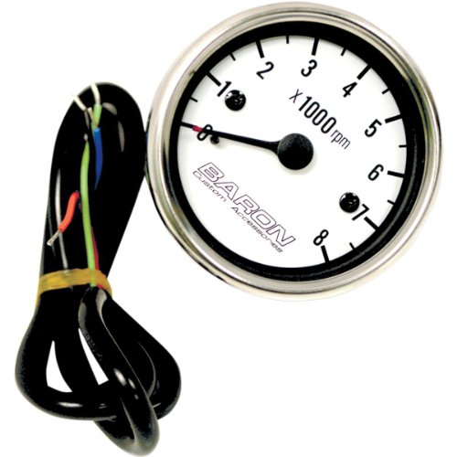 Baron Custom Accessories Tachometer Internals - White Face BA-07-670T