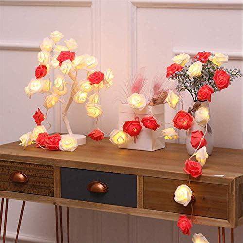 ATNEET LEDGirlandeLichterketteWeihnachtsbeleuchtung Außenleuchte String Rose 7.5M 50LEDs USB Rot Weiß