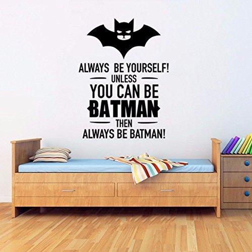 Cool Batman Art Decorations - Boys Bedroom Wall Art Decor Batman Quotes Home Wall Stickers Vinyl Decal Kid