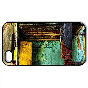 lintao diy apartment in ruins hdr - Case Cover for iPhone 4 and 4s (Houses Series, Watercolor style, Black)