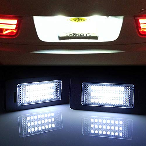 - GTP 24 LED License Plate Light for BMW 1/2/3/4/5/X Series X5 X6 M3 M4 E39 E60 E70 E71 E82 E90 E92 F32 F35 6000K White Error Free Rear Number Plate Tag Lamp Direct Replacement
