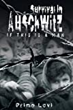 Survival In Auschwitz by Primo Levi front cover