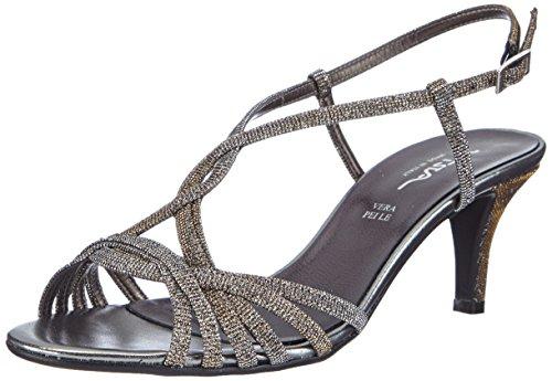 Vista 21-424M - Sandalias de vestir de material sintético para mujer Plata - Silber (silber/multi)