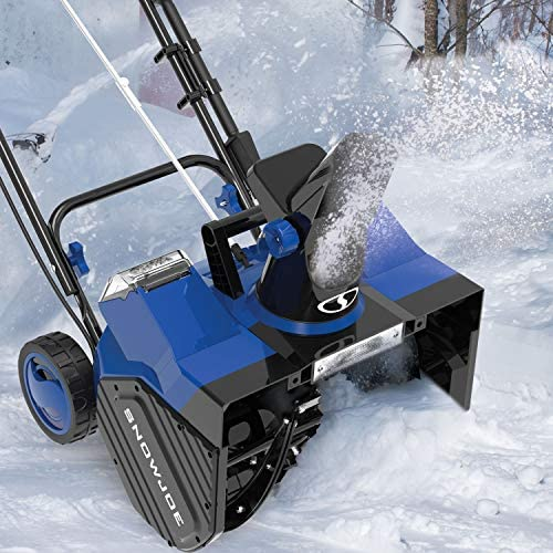 Snow Joe 24V-X2-SB18 48-Volt iON+ Cordless Snow Blower Kit   18-Inch   W/ 2 x 4.0-Ah Batteries and Charger