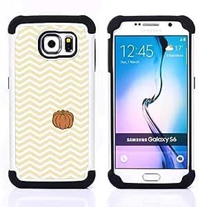 """Pulsar ( Amarillo calabaza de Halloween Otoño"""" ) Samsung Galaxy S6 / SM-G920 SM-G920 híbrida Heavy Duty Impact pesado deber de protección a los choques caso Carcasa de parachoques [Ne"""