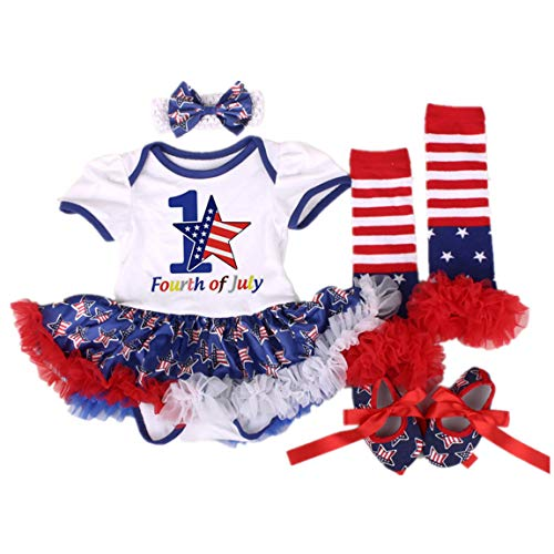 Amberetech 4th of July Outfit Infant Baby