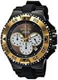 Invicta Men's 'Excursion' Quartz Stainless Steel and Silicone Casual Watch, Color:Black (Model: 23047)