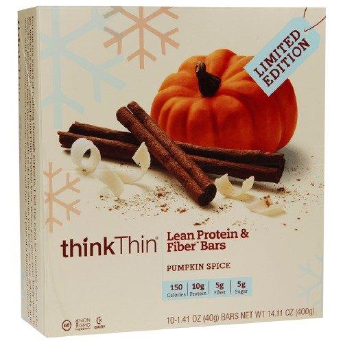 thinkThin Lean Protein & Fiber Bars, Pumpkin Spice 10 ea