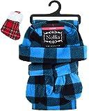 Blue & Black Plaid Children's Fleece Winter Outerwear Accessory Set - Scarf, Mittens, Hat & Mini Stocking