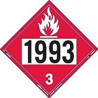 Labelmaster ZT2-1993 UN 1993 Flammable Liquid Hazmat Placard, Tagboard (Pack of 25)
