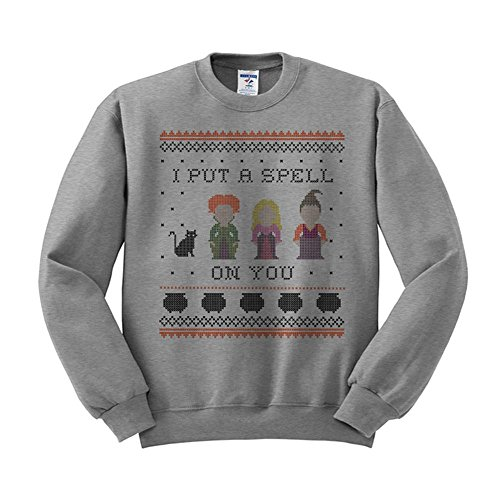 I Put a Spell on You Hocus Pocus Sweatshirt Unisex 3X-Large Grey