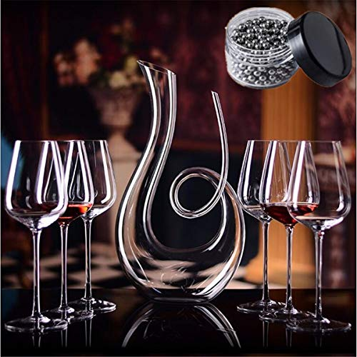 Sucastle Wine Decanter 100% Hand Blown ,Wine Gifts, Wine Accessories,Wine Breathing Decanter Crystal Wine Decanter,Lead Free Crystal Wine Decanter
