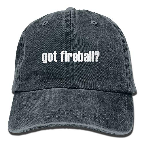 CYANnY Got Fireball Adjustable Cross-Country Cotton Washed Denim Hat Asphalt