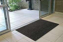 Textures Blocks Entrance Door Mat, 2-Feet by 3-Feet, Onyx