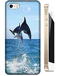 Dolphins Jump out of the water beautiful cell phone design for Apple Accessories iPhone 4/4S