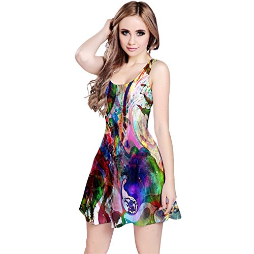 Abstract paint psychedellic trippy hippie hipster design skater Dress