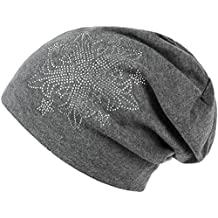 Ababalaya Women Autumn Winter Flower Drills Wool Cap Knit Hat Hip Hop Hat in 6 Colors