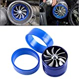 Blue Aluminum F1-Z Single Fan Turbonator Turbo Supercharger Tornado Air Intake Gas Fuel Saver + 2 Rubber Holder For Toyota Honda BMW Volkswagen