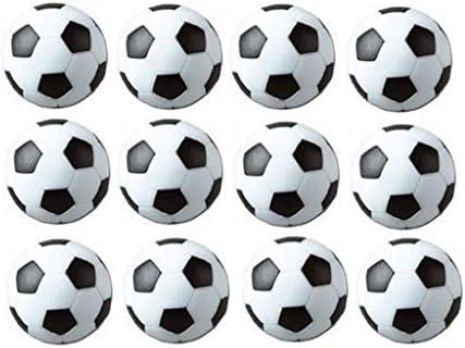 Sunreek - Juego de 12 balones de fútbol para mesa, color negro y blanco: Amazon.es: Juguetes y juegos