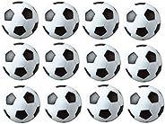 SUNREEK Table Soccer Foosballs Replacements Mini Black and White Soccer Balls- Set of 12