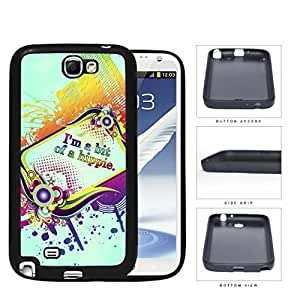 I'm A Bit Of A Hippie Quote Rainbow Color Rubber Silicone TPU Cell Phone Case Samsung Galaxy Note 2 II N7100