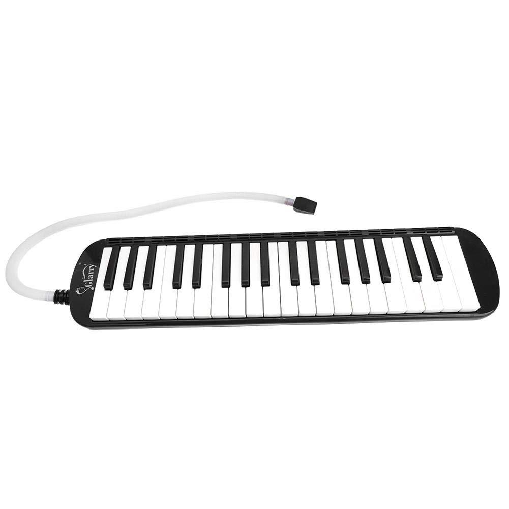 37-Key Melodica with Mouthpiece & Hose & Bag Black