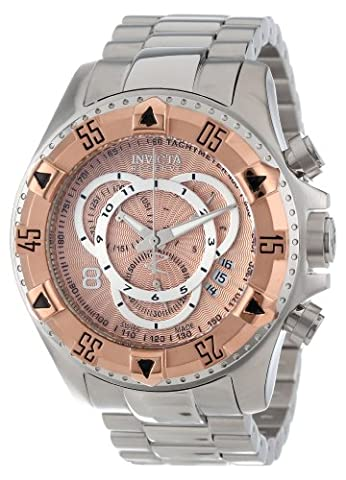 Invicta Men's 11000 Excursion Reserve Chronograph Rose Gold Tone Dial Stainless Steel Watch (Invicta Reserve Excursion Gold)