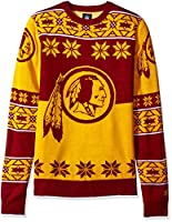 NFL WASHINGTON REDSKINS Unisex NFL Big Logo Ugly Crew Neck Sweater, X-Large