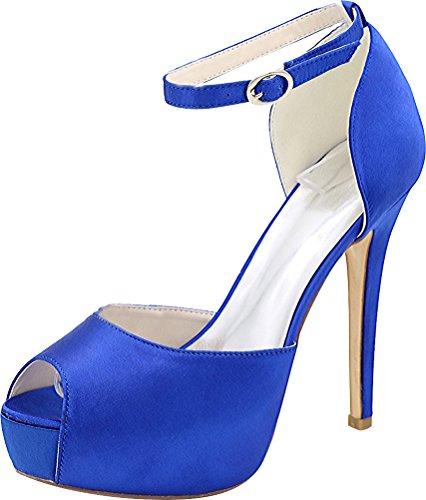 Salabobo Bout Ouvert Femme - Bleu - Bleu,