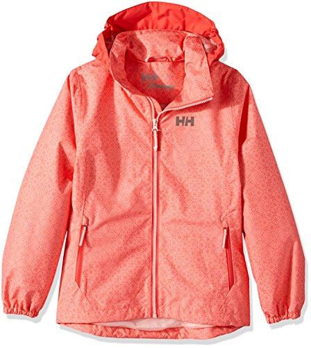 Helly Hansen Girls Freya Rain Jacket, Size 10, Shell Pink Heritage by Helly Hansen