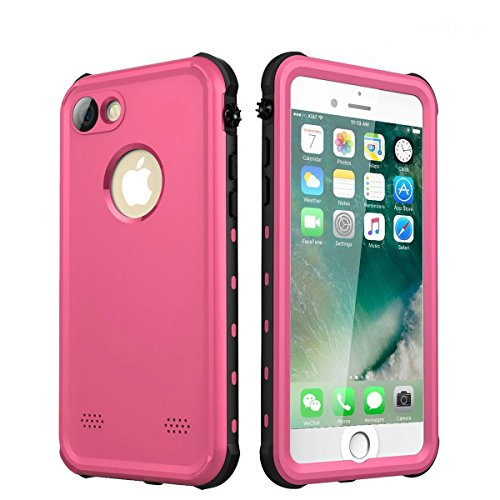 iPhone 7 Case/iPhone 8 Case(4.7 Inches), iThrough Underwater Waterproof Case for iPhone 7/iPhone 8, Dust Snow Shock Proof, Heavy Duty Protective Carrying Slim Case Cover for iPhone 7/iPhone 8(Pink)