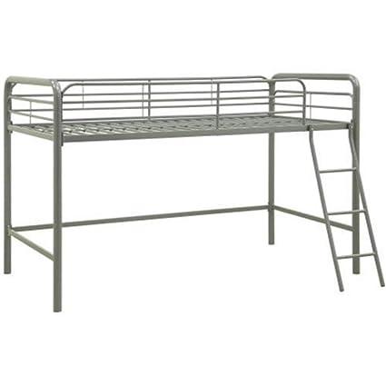 Amazon.com: Loft Junior Bed Metal Bedroom Twin Kids Furniture Frame ...