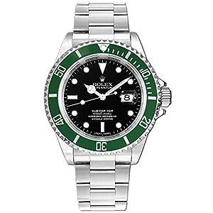 "Best Epic Trends 5113kIheLjL._SS300_ Rolex Submariner Date""Kermit"" Black Dial Men's Diving Watch"