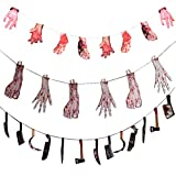Frjjthchy 3 Pcs Horrifying Halloween Banner Bunting Paper Simulation Halloween Props Perfect for Halloween Party Favors Decoration