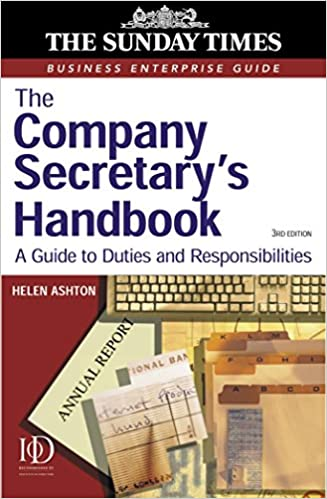 The Company Secretary S Handbook A Guide To Statutory Duties And