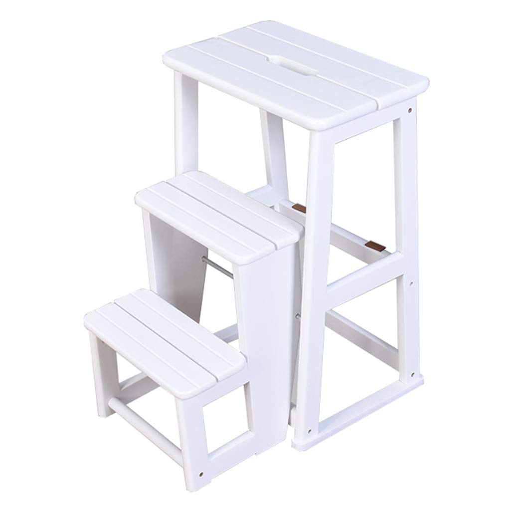 High Chair Step Stool Wooden Staircase Stepladder Dual-use Climb 3 Step Ladder Widened Safety Storage Shelf Household Kitchen Indoor Ascend shoes Rack