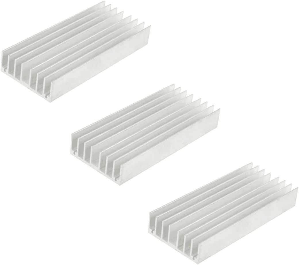 Heatsink Heat Diffuse Aluminium Cooling Fin 130mm x 56mm x 20mm,Silver 1Pcs
