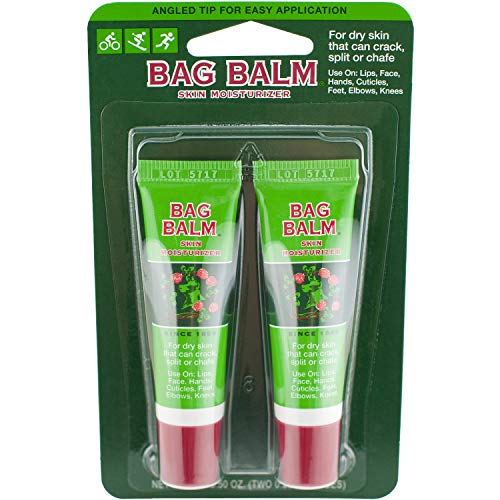 Vermont's Original Bag Balm Skin Moisturizer, 0.25 Ounce Tube (2 Count), Moisturizing Ointment for Dry Skin that can Crack Split or Chafe on Hands Feet Elbows Knees Shoulders and More made in New England