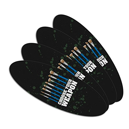 Choose Your Weapon Artist Paint Paintbrush Double-Sided Oval