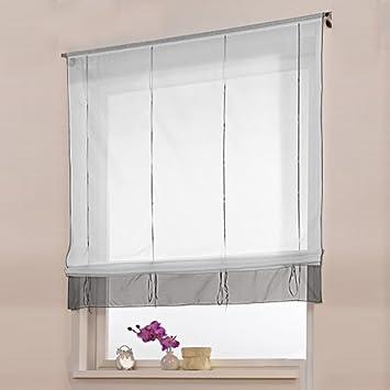 sundautumn visillos con trabilla ajustable mediante cinta para saluoacuten dormitorio o