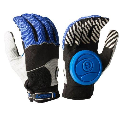 Sector 9 Apex 2014 Longboard Skateboard Slide Gloves Blue / Black / Grey / Size L/XL With Slide Pucks by Sector 9