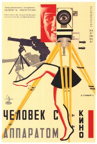 Russian Camera with legs Poster Movie 1929